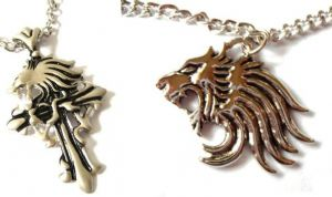 Final Fantasy GOTHIC Squall GRIEVER and Final Fantasy Squall's Lion Heart NECKLACE set of 2